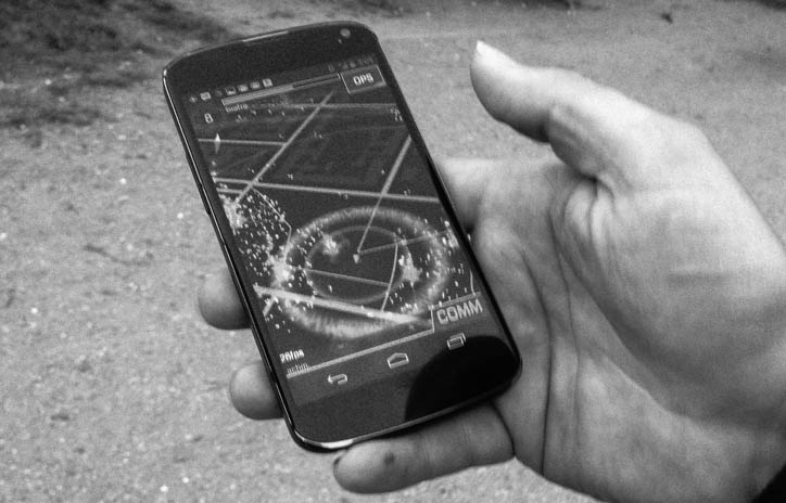 Ingress auf Smartphone-Display