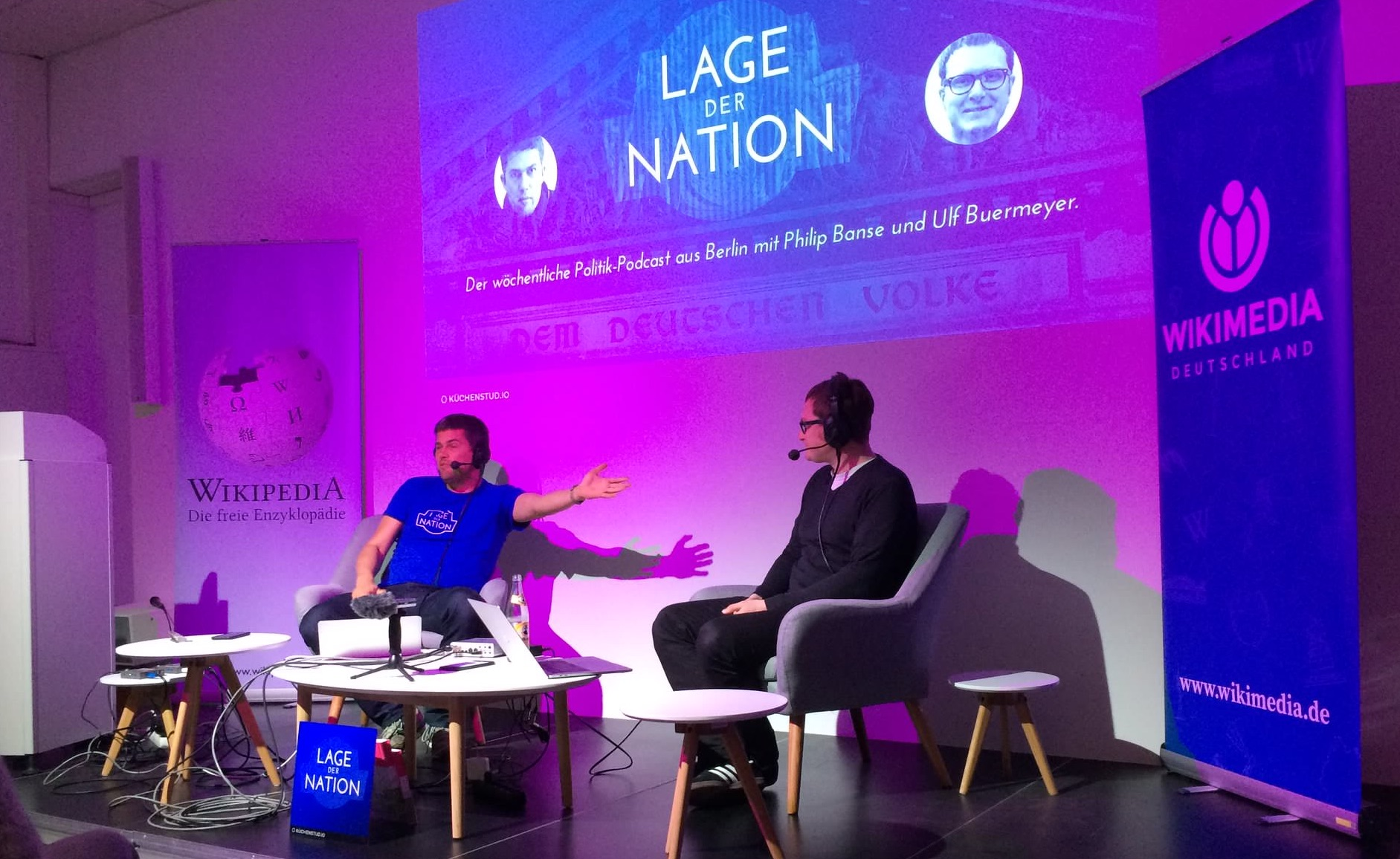 Philip und Ulf auf der Bühne